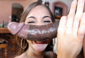 Riley Reid wanking strong black dick...