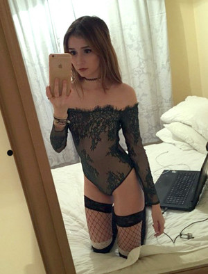 Thin blonde girlfriend posted her sexy..