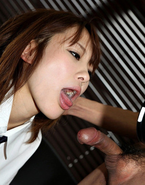 Cute asian coed Miki Maejima gets cum..