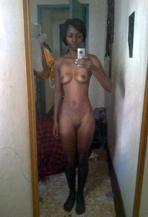 Naked black teen selfies. Young ebony..