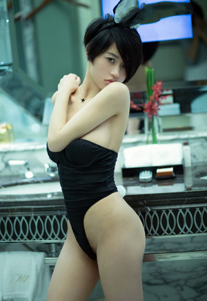 Cute young chinese model Lina posing..