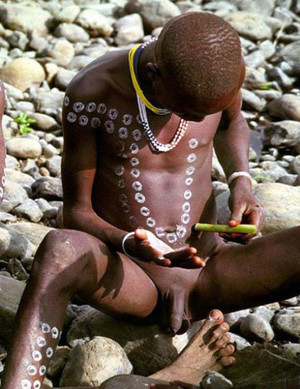 Nude young boys from africa, naked..