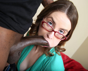 Naughty coed Jay Taylor sucks giant..